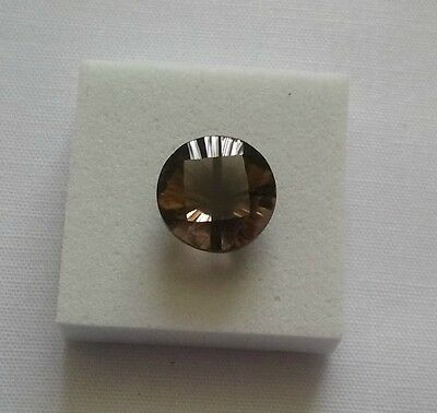 Smokey Quartz 3cts Drilled Round Time Square Cut Loose Gemstone 10mm