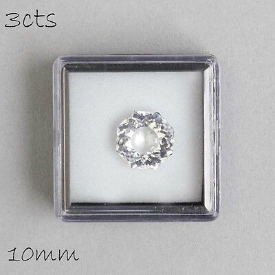 Clear Quartz 3cts Faceted Octagon Cut Loose Gemstone 10mm