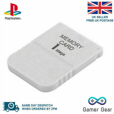 Sony PS1 PSX PS One Playstation 1MB 15 Block Memory Card - New