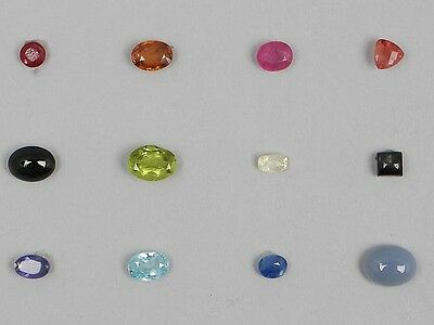 Natural Gemstones Asian Collection 12 Different Gems Jewellery Maker