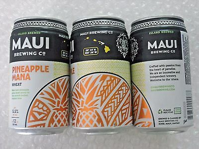 NEW ~ EMPTY MAUI BREWING PINEAPPLE MANA WHEAT Craft Beer 12oz Can Hawaii