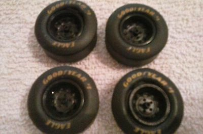 1/24 scale nascar good year rubber tires and rims