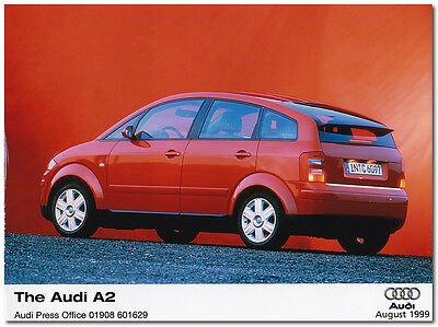 Audi A2 Press Release Photograph. August 1999 RARE!