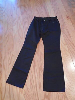 Super Sexy Womens HARLEY DAVIDSON Black SATIN Bootcut PANTS Sz 2