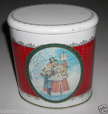 Vintage Christmas Carolers Collectible Tin - Great Tin For The Holidays