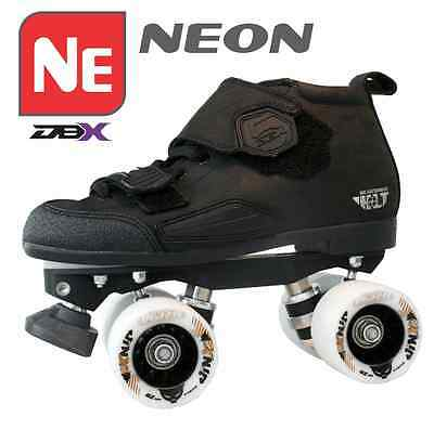 Leather Speed Skates - Derby Rollerskating Quad Skate! DBX5 Neon Pacakge