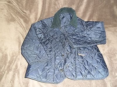 Barbour Jacket Age  6 / 7 Years Navy Girls