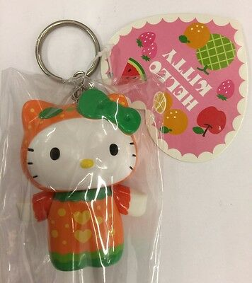 "Sanrio 2.5"" Hello kitty Orange vinyl figuire  keychain"