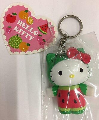 "Sanrio 2.5"" Hello kitty Watermelon vinyl figuire  keychain"