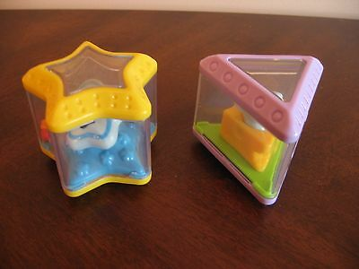 Fisher Price Peek Blocks Inteteractive Shape Sorter Triangle Star Pieces ONLY