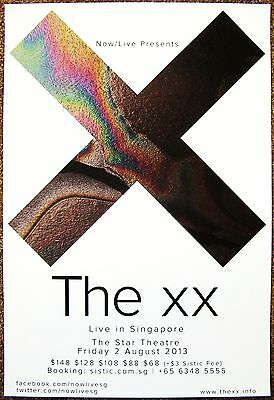 THE XX 2013 Gig POSTER Singapore Concert