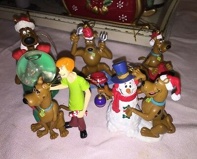 Vtg Lot 5  Hanna-Barbera Scooby Doo & Shaggy Christmas Ornaments