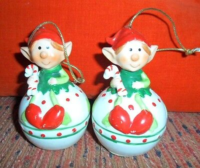 Vtg 1981 Himself the Elf Christmas Ornament candy cane Sitting on Ball