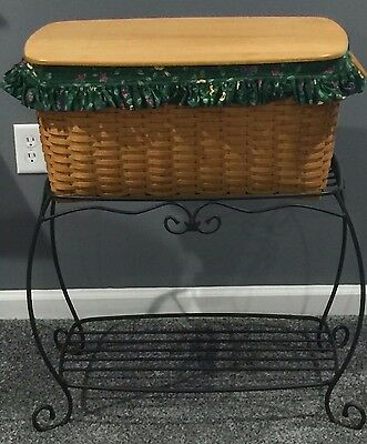 Longerberger Hostess Hope Chest Basket with Wrought Iron Stand 1998