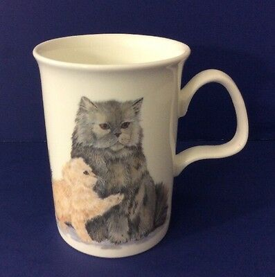 Roy Kirkham Mug Cat Lovers New Bone China Persian Cat 1989 Coffee Cup