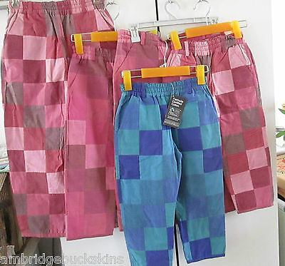 Monpiti India Reversable Cotton Patchwork 5 Pairs Pants Children Mixed Sizes NWT