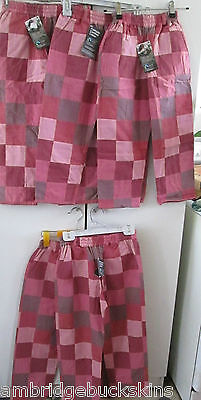 Monpiti India Reversable Cotton Patchwork 5 Pairs Pants Girls Mixed Sizes NWT
