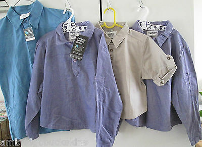 Bulk Monpiti Cotton Button Down Shirts Childrens Sizes 3 4 7 8 Mixed Lot NWT