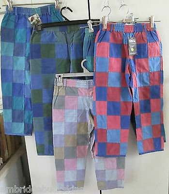5 Pairs Monpiti India Cotton Patchwork Pants Children Mixed Sizes NWT Reversable