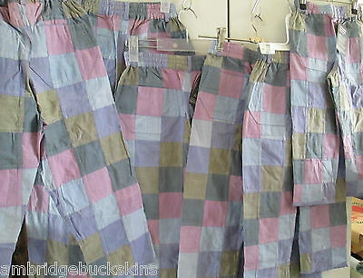 Bulk 6 Pairs Monpiti India Cotton Patchwork Pants Childrens Mixed Sizes NWT
