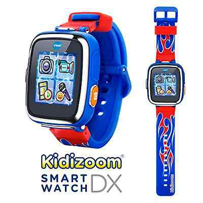 VTech Kidizoom Smartwatch DX - Special Edition - Red Flame with Bonus Royal Blue