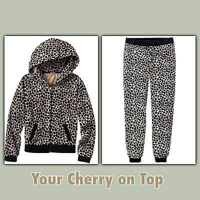 JUICY COUTURE Leopard Velour Hoodie or Pants Tracksuit - Girls