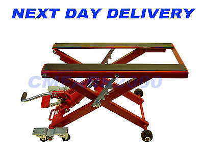 500kg 1100lb, 6 Wheeled, Hydraulic Motorcycle / ATV Motor Bike Lift Table Stand