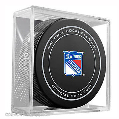 New York Rangers NHL Ice Hockey Official Game Puck in box by Sher-wood