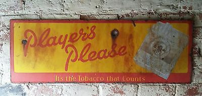 Collectable Players Please Cigarette Enamel Sign