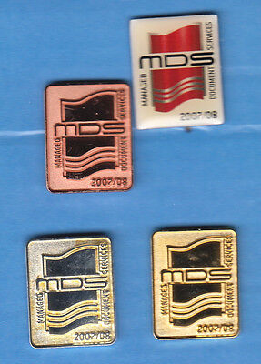 4 Alte  Pins-Mds-Alle Verschieden-Mds Managed Document Services-4 Pins..(Nkt155)