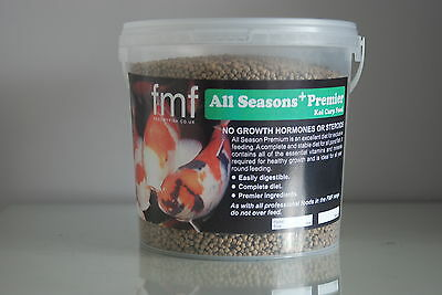 Koi Carp Pond Food Fish  Food All Season Premier + 6 kg Bucket 6 mm Pellets