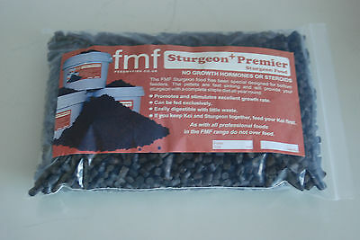 FMF Sturgeon Premier + Bottom Feeding Pond Fish Food Sinking 3000g Bag 8 mm