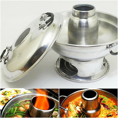 Hot Spicy Soup Pot Thai Food Cookware For Tom Yam Kung Aluminium Pot 22''