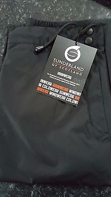 "Sunderland of Scotland Ladies ""Bergen"" 2016 Waterproof Trousers Size M27 Black"
