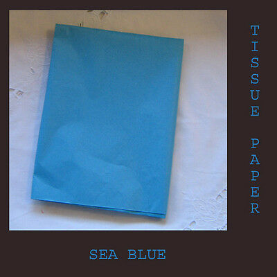 60 Sea Blue Tissue Paper Gift Wrapping Craft Party Packing 500x750mm Acid Free