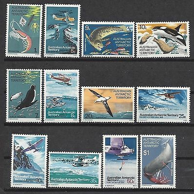 Australian ANTARCTIC Territory 1973 DEFINITIVES Ser (12) Unhinged Mint SG 23-34