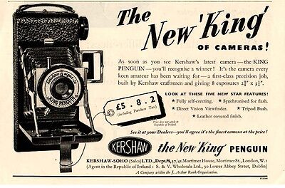 "The  KERSHAW ""KING PENGUIN"" CAMERA  (1951 Advertisment)"