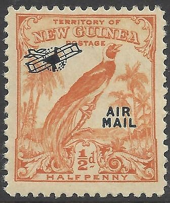 New Guinea 1932 ½d (Undated) BIRD OF PARADISE, AIR MAIL/Plane O'print MUH SG 190