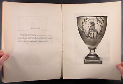 Antique Russian & European Engraved Glass -Many Pictures, Rare 1929 Book