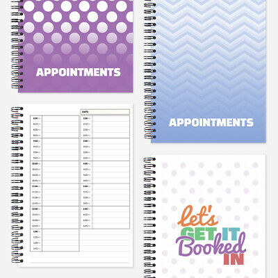 A5 Appointments Book. One column freelance for hairdresser, salon, spa, nails
