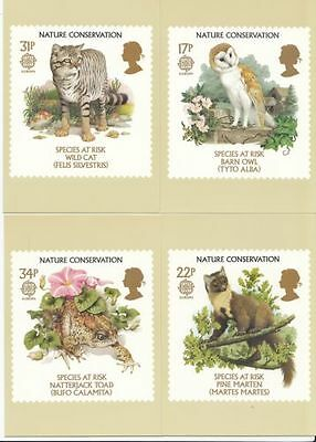 7Gb Postcards Phq Cards No. 92 Mint Full Set 1986 Nature Conservation 10% Off 5+