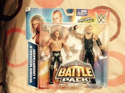 Wwe shawn michaels and undertaker battle pack 33 figures new rare