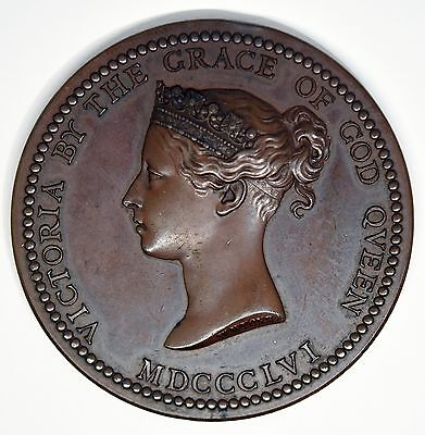 1856 British Science and Art Department Bronze Medal Queen Victoria W.Wyon.R