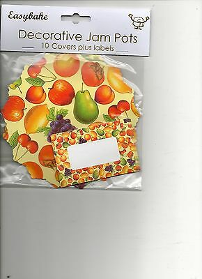 10 Decorative Jam Pot Covers and Labels & kit, pretty