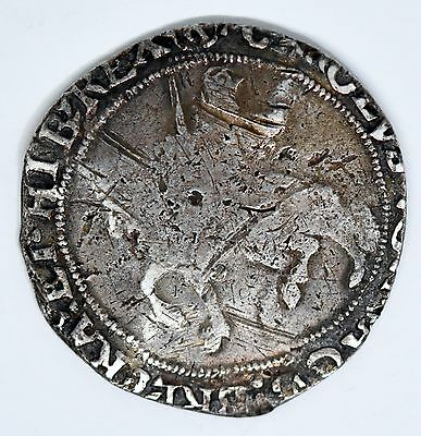 Charles I Halfcrown mm R Silver Hammered British Coin