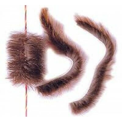 Beaver fur bow string silencers for traditional bows