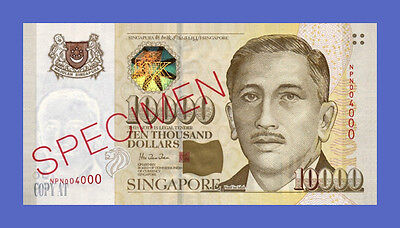 SINGAPORE - 10000 Dollars 1999s - Reproductions - See description!!!