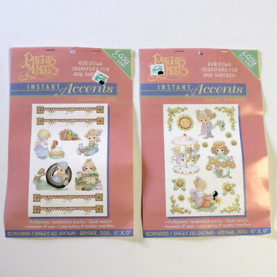 Precious Moments Rub On Down Transfers Instant Accents 2 Sheets