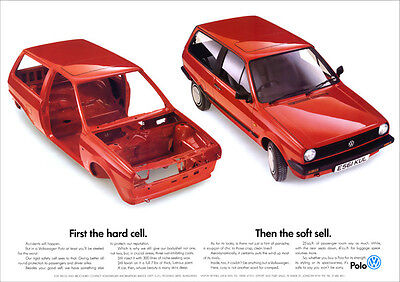 Vw Polo Mk2 Retro Poster A3 Print From Classic 80's Advert