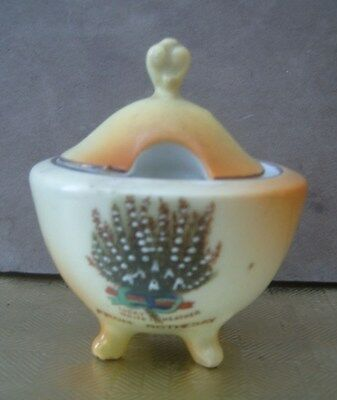Victoria China Lucky White Heather Condiment Dish. Rothesay.  FREE UK POSTAGE.